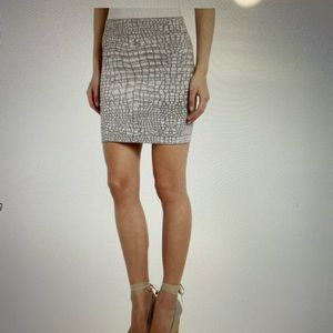 BCBG taupe pattern skirt